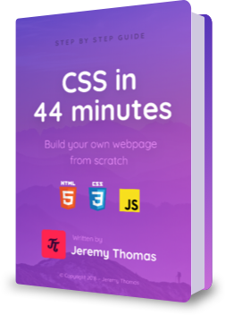 CSS in 44 minutes book cover